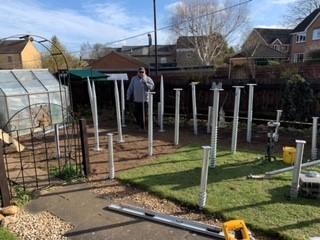 Milton Keynes 1.5 Meter Groundscrews Used For A Swiming Pool In A Garden Room