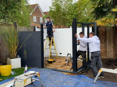 Garden Room In Milton Keynes, Installation In Progress Copy Copy