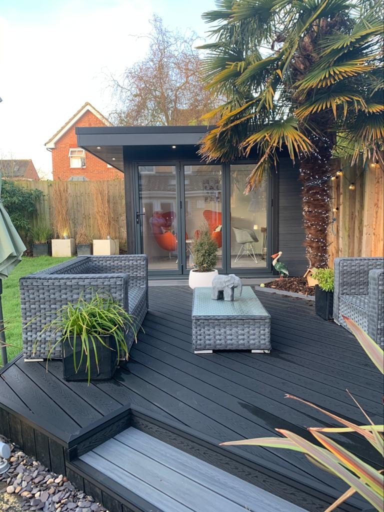 Garden Room In Milton Keynes, With Composite Decking For Outdoor Seating Area Copy Copy